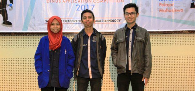 Mahasiswa Prodi Sistem Informasi masuk 10 Besar Dinacom 2017